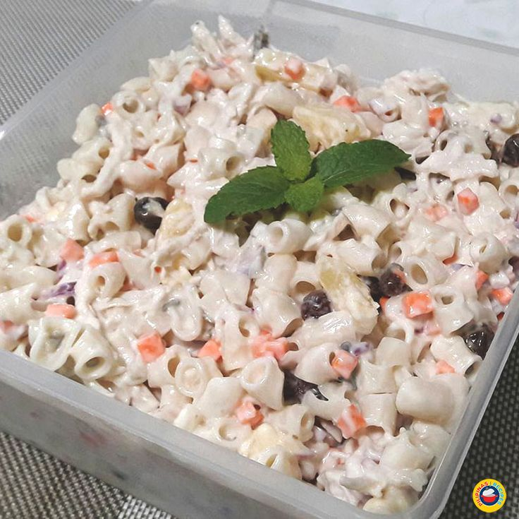 Chicken Macaroni Salad Recipe is a combination of different flavors like Onions, Raisins, Pineapple Chunks, Mayo, Cheese, Cream, and Chicken.