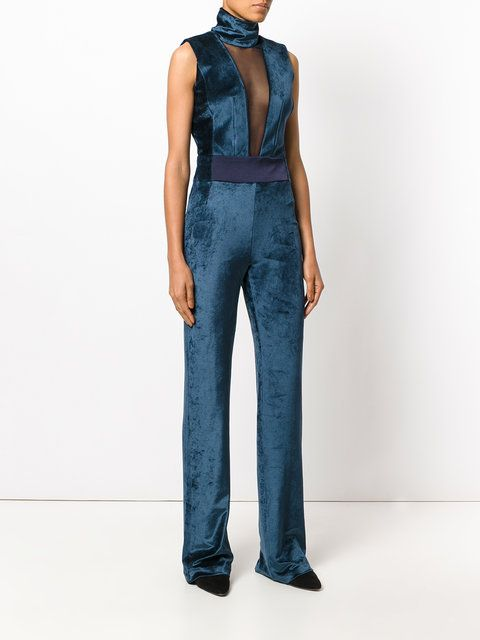 Galvan fitted plunge jumpsuit