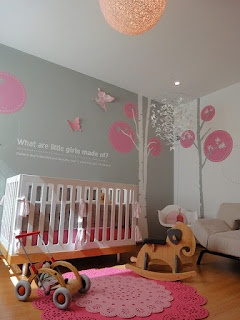 sweet dreams and butterflies with baby girl nursery