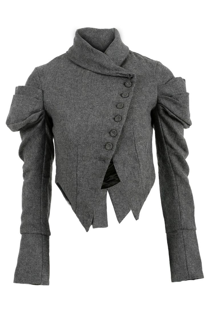 Image only, collar and diagonal cut, switch up sleeves and adjust bottom