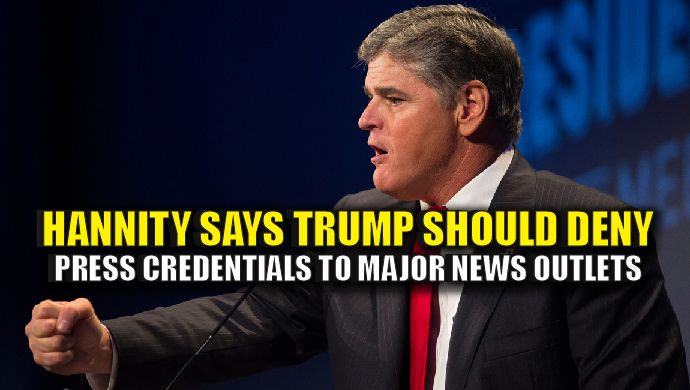 The dishonest liberal media used their power to try and alter the 2016 election. It was a shameless display of unprofessionalism and has put the media on the defense since Trump won the election epically. Sean Hannity is calling for Trump to deny press credentials to major news outlets.