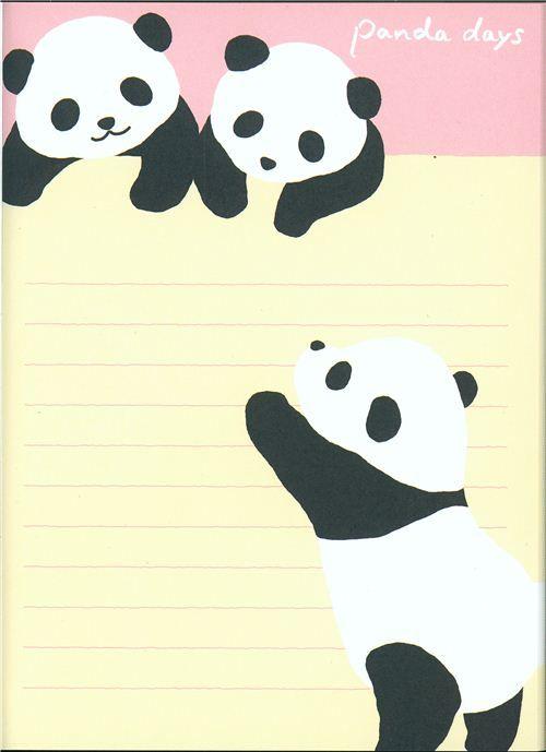 Mini Bloc de Notas oso Panda troquelado - Blocs de notas - Papelería - tienda kawaii modesS4u