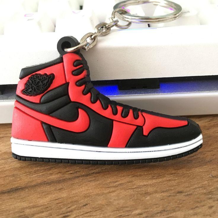 Jordan Zapatos de Baloncesto Llavero de Halloween Regalos de Navidad de PVC Cadena dominante Del Coche Llaveros Colgantes Colgante Al Por Mayor