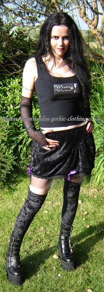 Fairy Net Mini Skirt by Moonmaiden Gothic Clothing UK