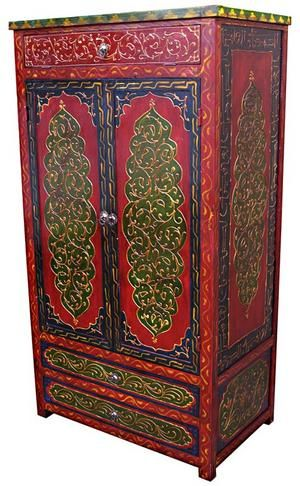 Calligraphy Wardrobe 2 Armoire via Star of Morocco design notes could DIY  the build and