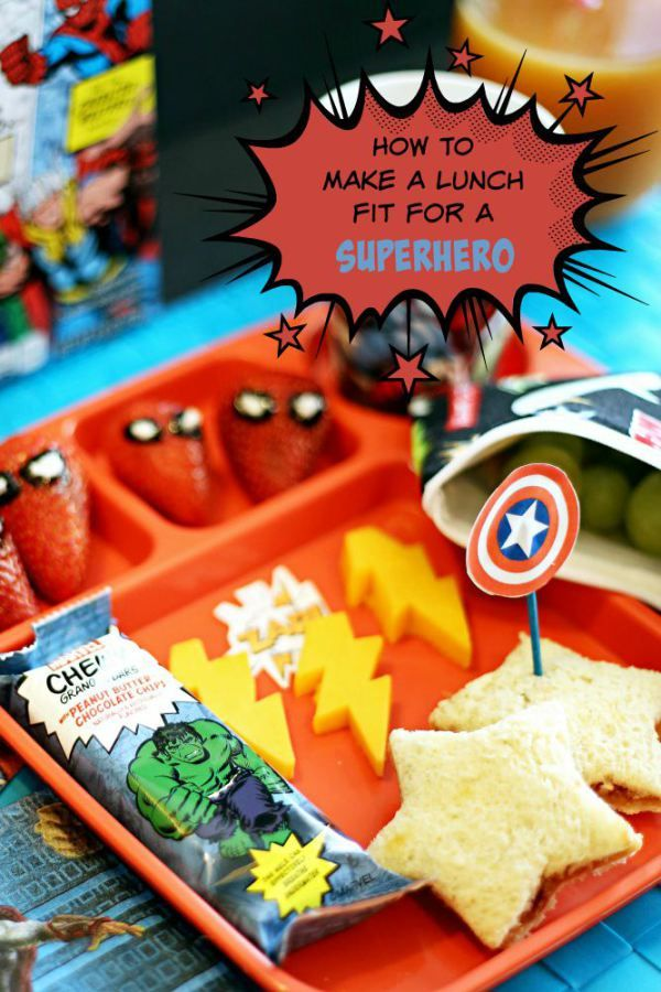 How to Make a Bento-Style Superhero Lunch for the Kids ...