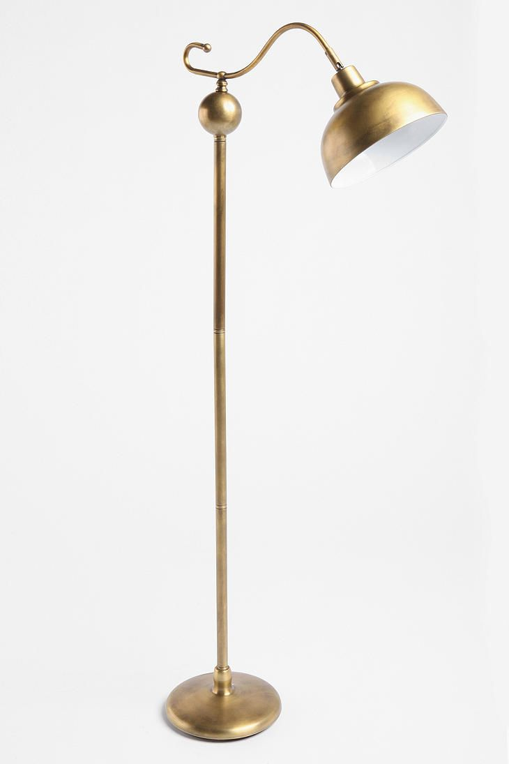 UrbanOutfitters.com > Stella Floor Lamp    Possibly the only floor lamp I've seen that I actually like...current conundrum: picking between brass, mint green & canary yellow...