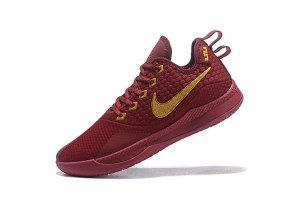 bc1f5b203fe5 Mens Nike Lebron Witness 3 Burgundy Gold Basketball Shoes