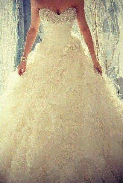 Wedding dress...sparkle...princess gown