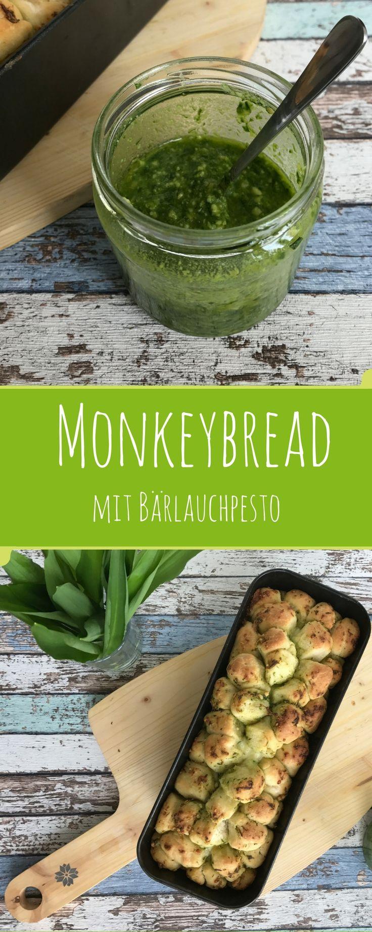 Ein herzhaftes Monkeybread mit selbstgemachtem Bärlauchpesto und leckerem Mozzarella - Frühling pur auf dem Teller.