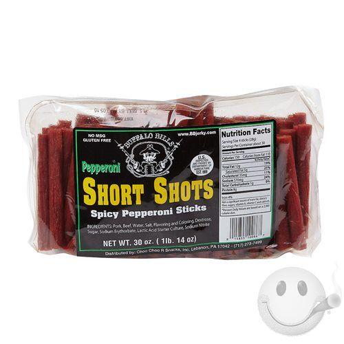 Buffalo Bill's Short Shots Beef Sticks - Cigars International