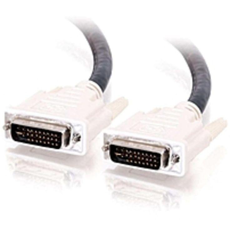 C2G 2m DVI-I M/M Dual Link Digital/Analog Video Cable (6.5ft) - DVI-I Male - DVI-I Male - 6.56ft - Black