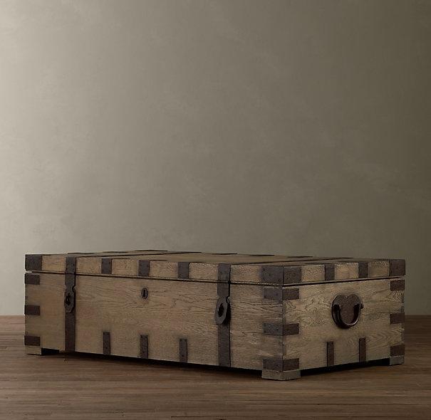 Walnut chest: Coff Trunks, Restoration Hardware, Dreams Houses, Living Rooms, Heirloom Silver, Trunks Coffee Tables, Silver Coff, Families Rooms, Coffee Trunks