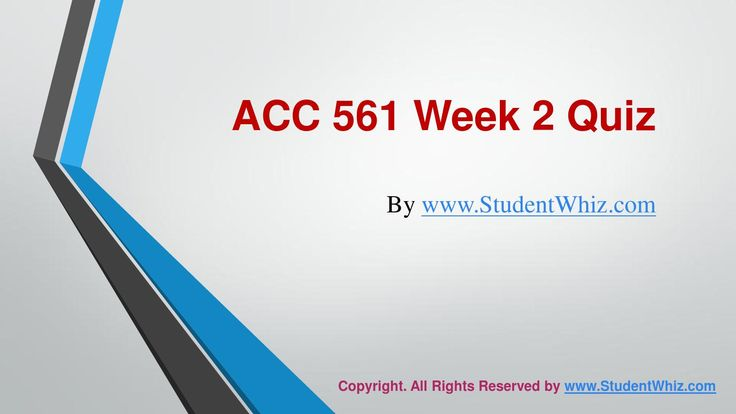 www.StudentWhiz.com provides Latest UOP tutorial courses that would definitely lead you to success. We provide ACC 561 Week 2 quiz or Knowledge Check Question, Answers and lot more.Quiz Answers just a click away http://goo.gl/Hk0Lr2
