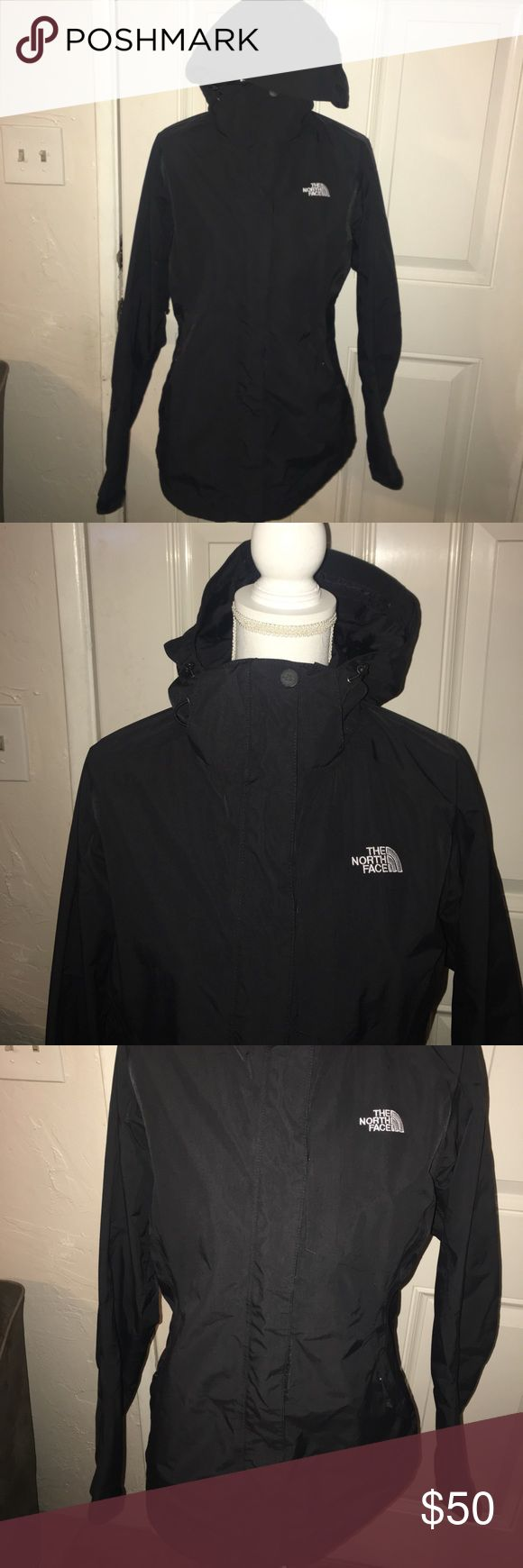 North Face Black Jacket with Hood L In great condition North Face Black wind breaker Jacket with Hood Size Large. The North Face Jackets & Coats