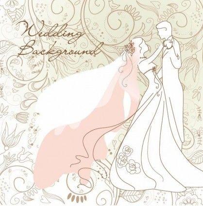 Antecedentes de la boda vector Ilustración
