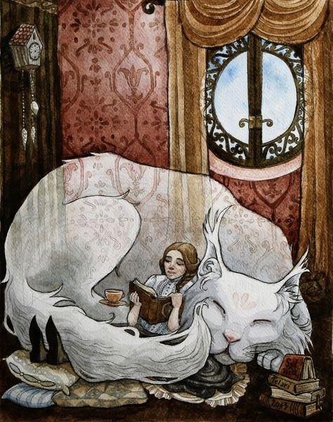 The Big Cat Art Print by Sylwia Telari | Society6