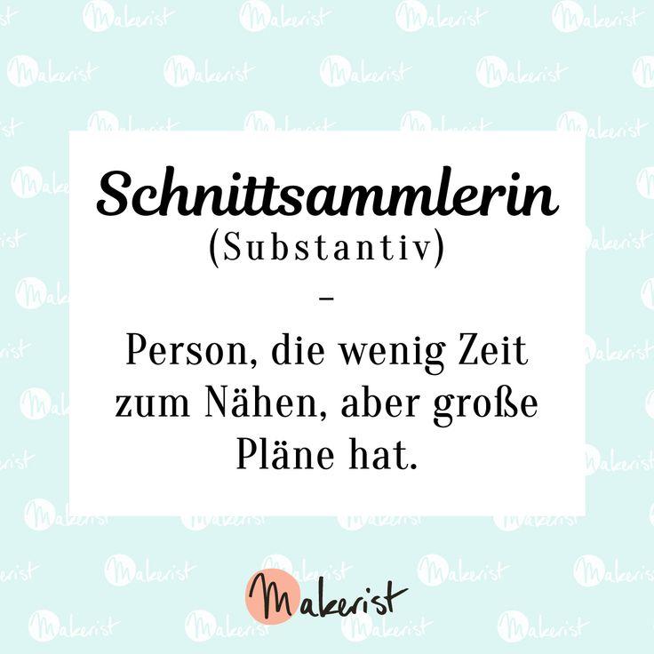 Schnittsammlerin-Spruch für Nähen-Fans via Makerist.de