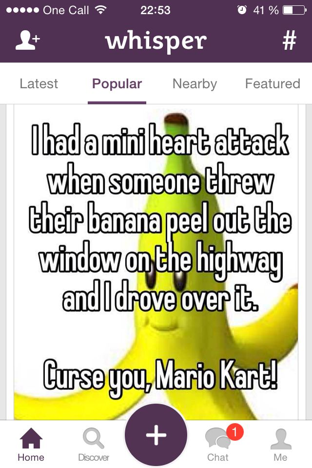 Played too much Mario Kart...