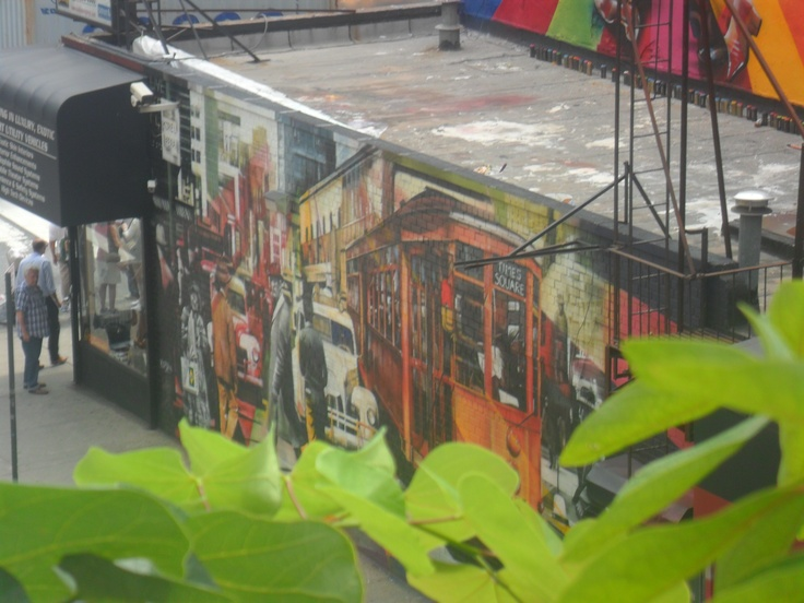 Graffiti visto desde High Line Elevated Park, NY