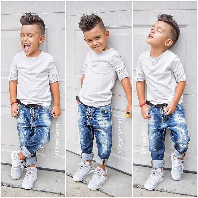 @childsplayclothing has the best jeans!  #dsquared And he sure was enjoying photos in the rain  ☺️ cant u tell lol  #ryansecret #childsplayclothing #fashionkids #kidsfashion #kidswithstyle #igkids #love #dsquared2 #adidas #kidzfashion