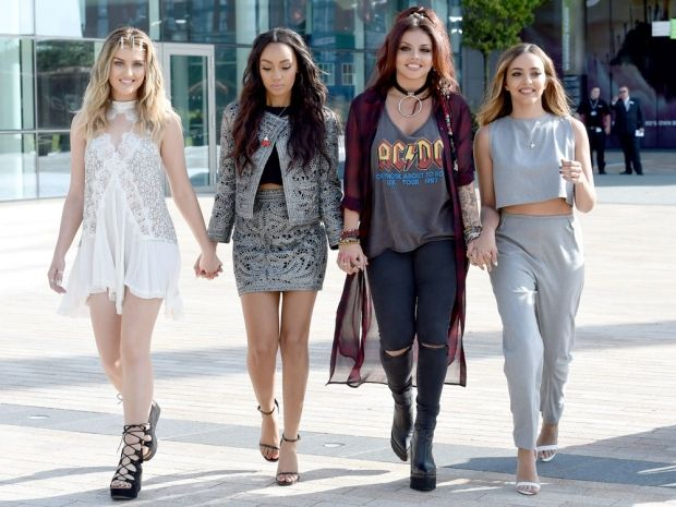 The Little Mix girls do daytime chic in Manchester