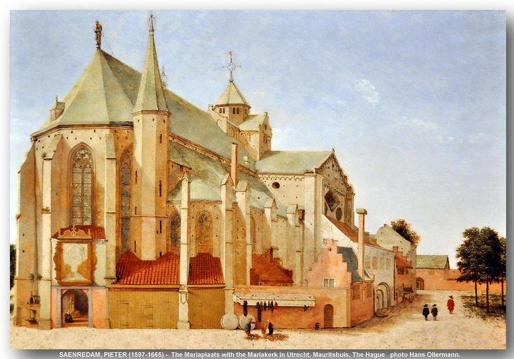 SAENREDAM, PIETER (1597-1665) - The Mariaplaats with the Mariakerk in Utrecht. Mauritshuis, The Hague. 1659.