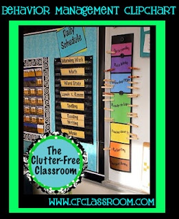 """Positive Behavior Chart.  Kids move up on the chart for good behavior.  When they reach the top, they get a star.  After 5 stars, they get a new pin and color it red.  Repeat in """"rainbow order."""" After they get all the colors, they get the coveted glitter clip."""