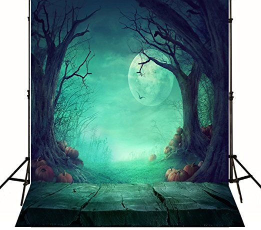 5x7ft Halloween Photography Backdrops Wood Floor Pumpkin Backdrop For Photo Background Studio J01802
