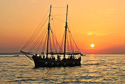 Sunsets at Sea in sailboat photography by artfuns on Etsy
