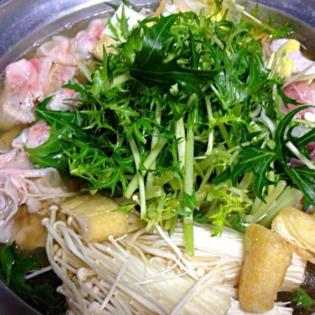 水菜たくさんもらったのでで - 45件のもぐもぐ - 豚バラ 鳥もも ツインはりはり鍋 by sasachanko