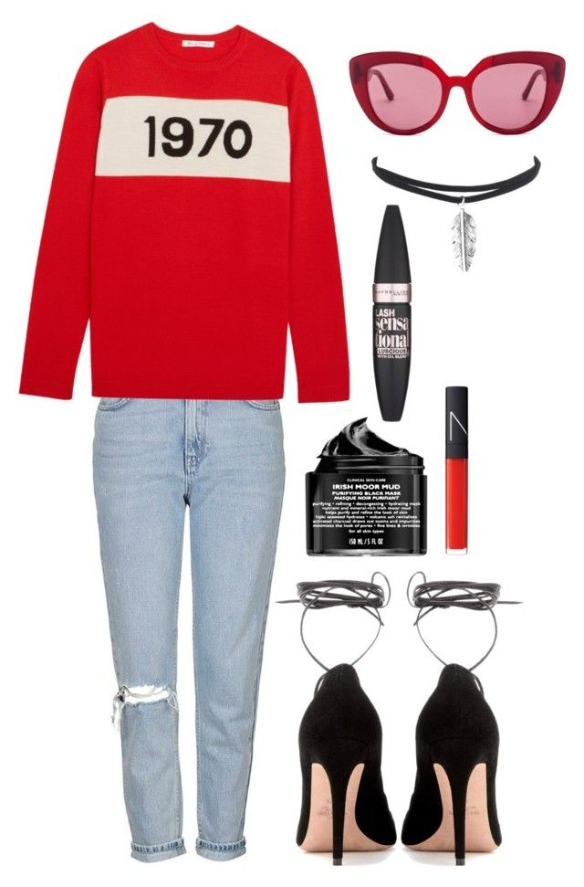 """""""1970"""" by mode-222 ❤ liked on Polyvore featuring Topshop, Bella Freud, Marni, Valentino, Peter Thomas Roth, NARS Cosmetics and Maybelline"""