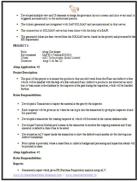 computer science resume sample 3 career pinterest