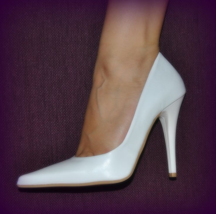 white pointy high-heel