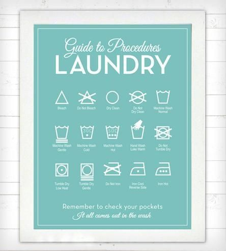Guide To Laundry Poster 13 Best Home Lavanderia Images On Pinterest  Laundry Room