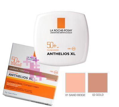 La Roche Posay Anthelios Compact Creme SPF 50+, 02 (Gold) 9 g -Yüz için yüksek koruma faktörlü pürüzsüz ve doğal görünüm sağlayan kapatıcı