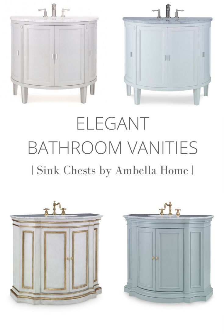 Photo Gallery For Website Explore traditional bathroom vanities in elegant painted finishes from Ambella Home the first pany to