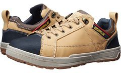 Caterpillar Brode Steel Toe, The laid-back look of the Brode Steel Toe shoe by Caterpillar conceals the superior steel toe protection and cushioned comfort that will get you through your work day with the same ease as a work boot. Smooth pigmented leather or suede upper.