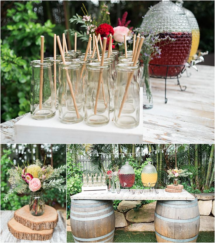 Braeside Chapel Wedding Styling Loving this rustic glam wedding in the Braeside Marquee #wedding #styling #braeside #chapel #rustic #glam #rustic #drink #station #wine #barrel
