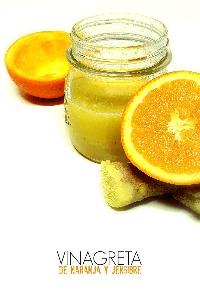 Vinagreta de naranja y jengibre - LAS SALSAS DE LA VIDA