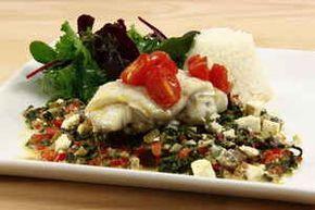 Ovnbagt torsk med feta og spinat, billede 4