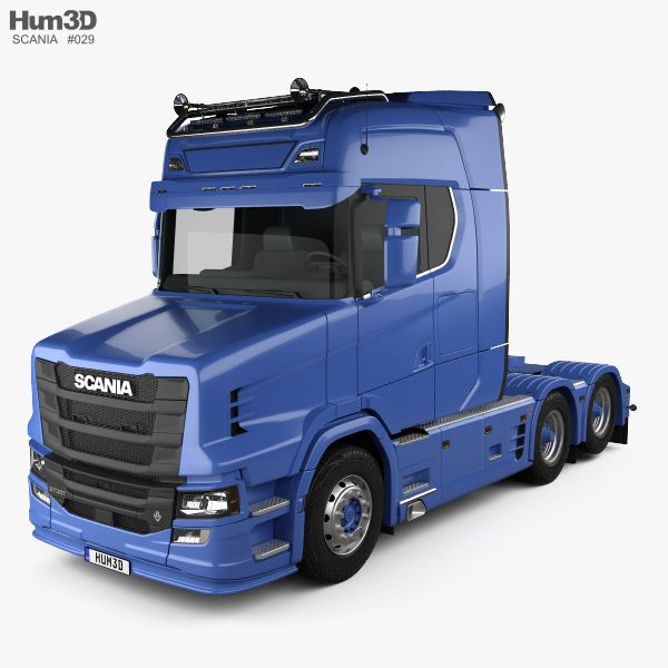 Scania S730 T Tractor Truck 2017 3d model from Hum3d.com.