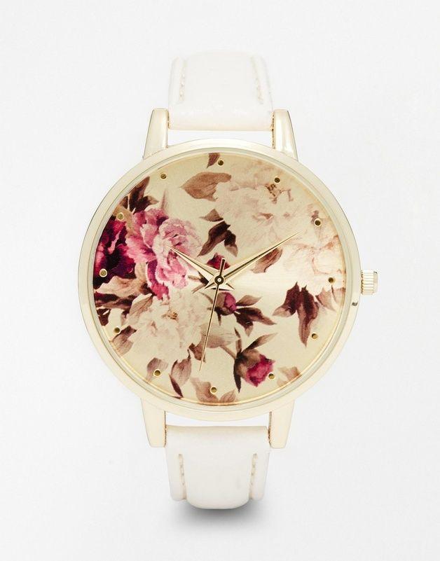 New Look - Montre avec cadran a imprime botanique chez ASOS shoping tenuedujour lookdujour mode femme ete achat fashion mignon jolie tendance ootd lux accesoires bijoux