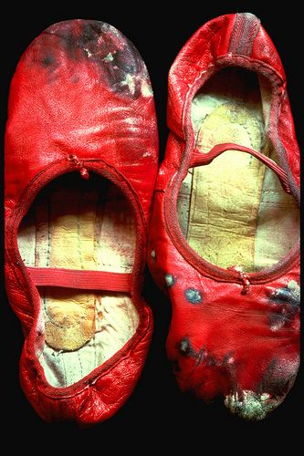 Baryshnikov's shoes. This image was on a poster I had as a kid on the back of my door.