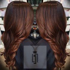 LOVE this cut + color. Gorgeous long brunette hair