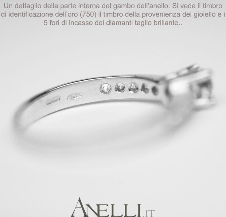 """Bellissimo e con prezzo conveniente.. Uno dei Must"""" di Anelli.it http://www.anelli.it/it/anelli-con-pietre-preziose-varie/anelli-pave-di-diamanti/solitario-da-fidanzamento-con-diamanti-laterali.html"""