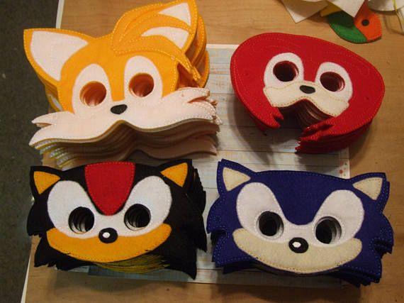 Shadow Sonic Hedgehog Inspired Felt Mask For Dress Up Or Aniversario Do Sonic Festa Sonic Almofada De Cinto De Seguranca