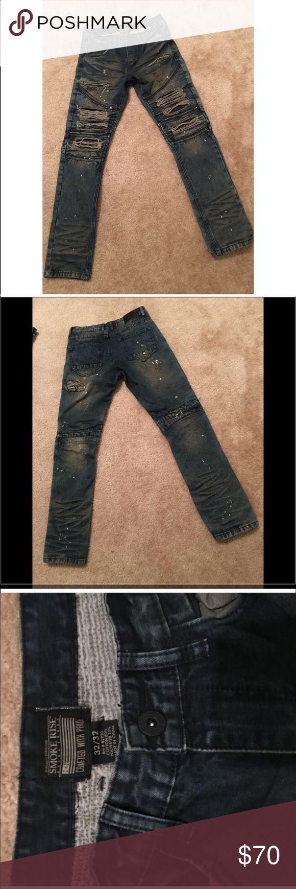Smoke rise biker jeans men Men 32x32 biker jeans in good condition Jeans