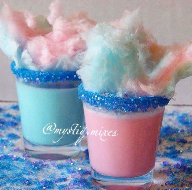 *As Seen on Tipsy Bartender!*  Cotton Candy Shooters made with Carousel Candy Cotton Candy Flavored edible glitter Glass Glitz cocktail rimmer by Little Waisted!   Carousel Candy is available online at littlewaisted.com, Amazon & Etsy!