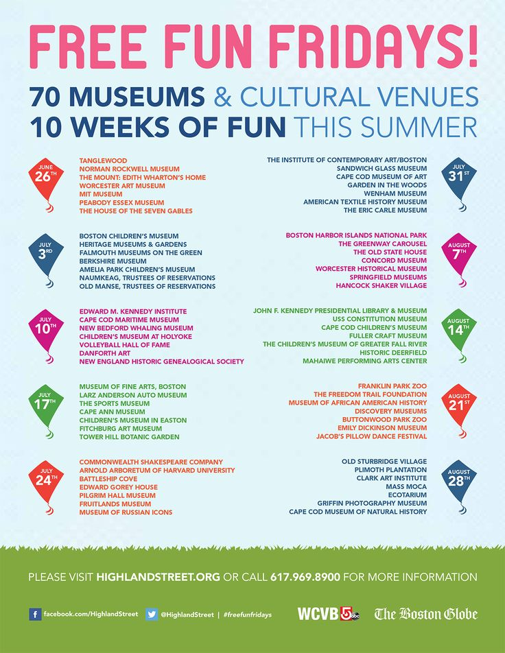 free fun fridays 2015 lineup schedule